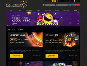 FortuneJack Casino Screenshot #1