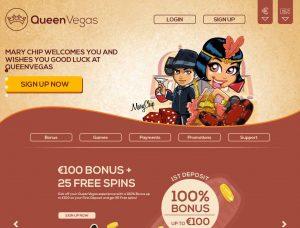 Queen Vegas Casino Screenshot #1