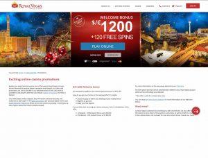 Royal Vegas Casino Screenshot #1