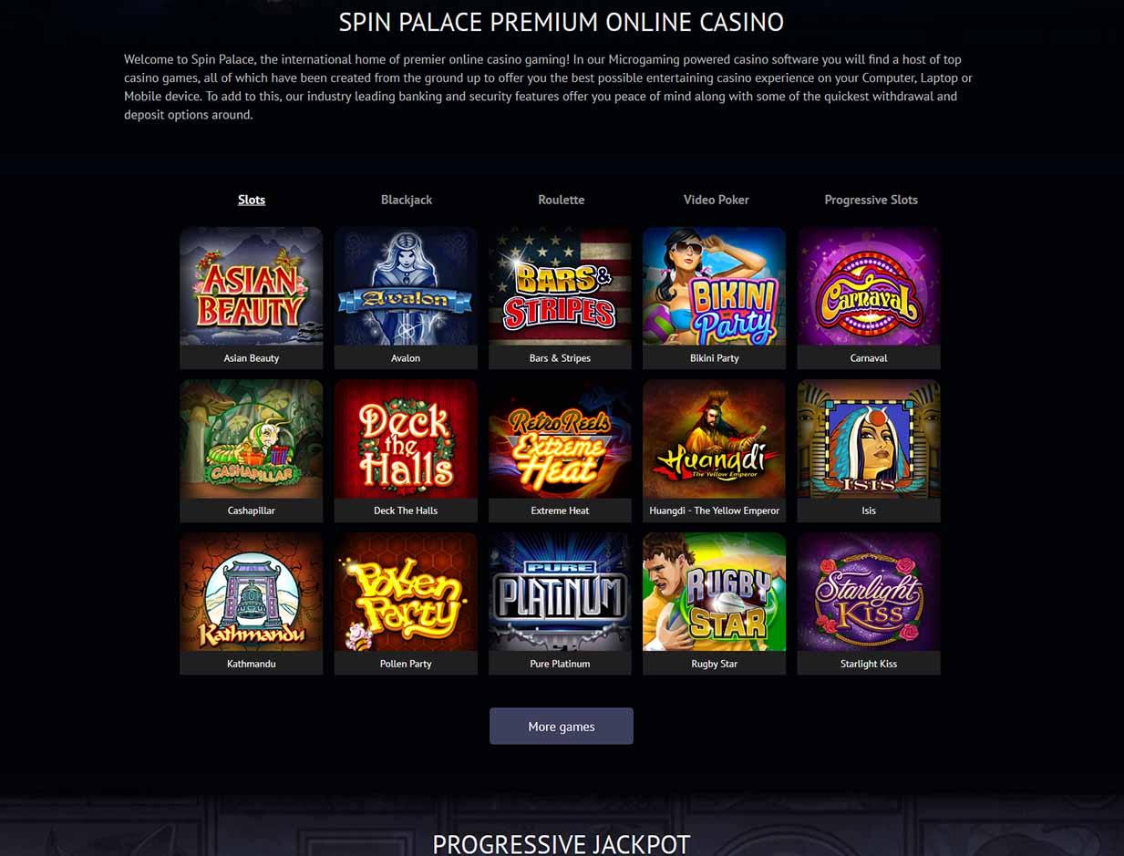 spin palace casino bonuses