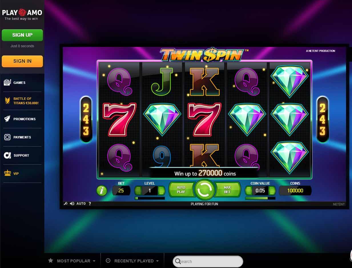 официальный сайт плей амо казино играть